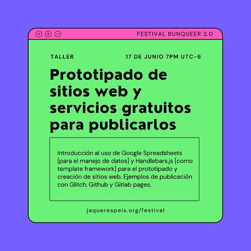 Prototipado de sitios web y servicios gratuitos para publicar