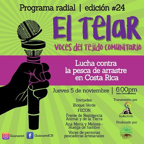 Banner El Telar 24 lucha contra la pesca de arrastre