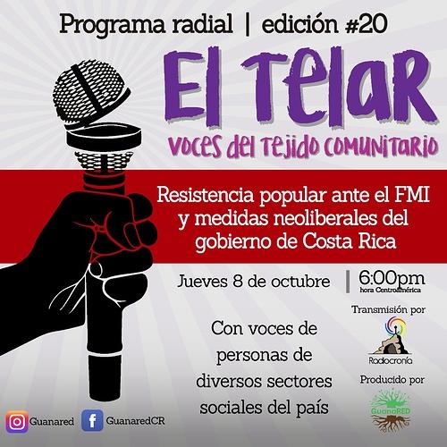 Banner programa El Telar 20
