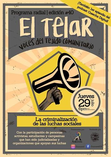 El_Telar_Edicion_40_ Criminalización de la protesta