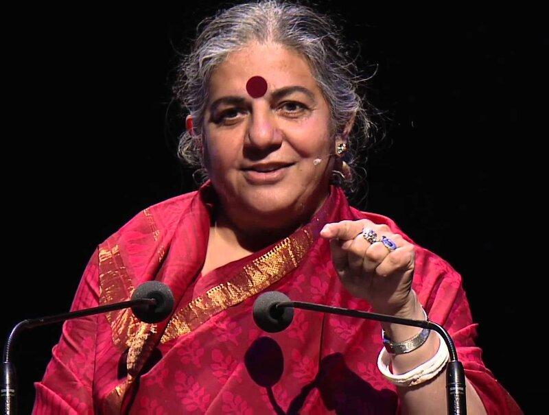 Vandana Shiva, Bill Gates, criptomonedas, agroindustria, patentes, vida, colonialismo, imperialismo, capitalismo, biodiversidad